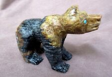 Zuni Amazing Picasso Marble Bear by Carver Herbert Him Jr. C0596
