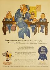 Lot of 3 Pabst Blue Ribbon Vintage Beer Print Advertisements 1944 1954