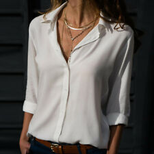 Fall Women Blouse V-neck Clothing Shirt Long Sleeve Tops Office Lady OL Blouse