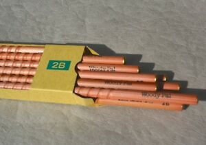 "12 pk KIRIN Pencil Company W-15 ""WoodyPal"" Eddy Writing Pencil 2B made in JAPAN"
