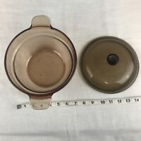 Corning Vision Wear Amber Glass Dutch Oven Roaster Casserole With Lid