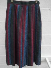 Geiger of Austria 100% Cotton Lined Pleated Skirt with Side Pocket