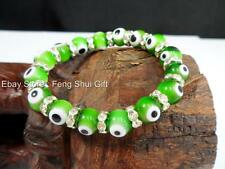 Green Evil Eye Glass Bead Feng Shui Protection Good Luck Lucky Bracelet Jewelry