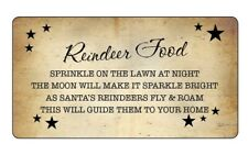 REINDEER FOOD Poem Labels Stickers VINTAGE STYLE CHRISTMAS EVE NOVELTY -670
