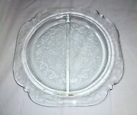 Four Indiana Glass Recollection repro Depression Clear Divided Grill Plates
