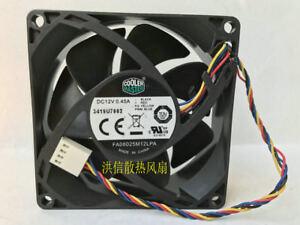 1PC Cooler Master FA08025M12LPA 12V 0.45A 4-wire PWM temperature-controlled fan