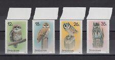 TIMBRE STAMP  4 ZIMBABWE Y&T#134-37 OISEAU BIRD HIBOU NEUF**/MNH-MINT 1987 ~B64