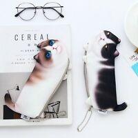 Cat Shaped Cosmetics Storage Bag Pen Pencil Bag Purse Makeup Organizer