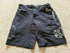 EUC Fox Riders Women's Baggie Mountain Bike Shorts Color Black Size Large L