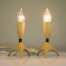 Nachttisch Raketen Lampen 50er Rocket Leuchten Paar Vintage Bedside Lamps