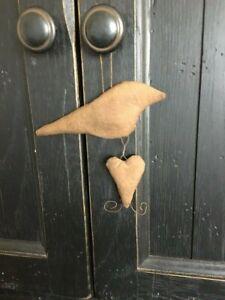 Primitive Bird with Heart