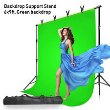 Photo Screen Chromakey Green Muslin Backdrop Studio Background Support Stand Kit