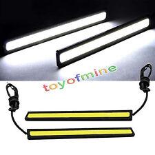 2x COB coche blanco luces LED 12V para DRL Fog Driving lámpara impermeable