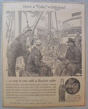 "Coca-Cola ad: Fantastic Frank Godwin Artwork! 1940's  9 x 12 inches ""Russia"""