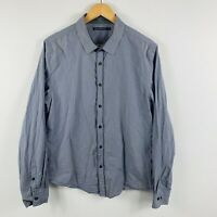 French Connection Mens Button Up Shirt Size Large Grey Long Sleeve Collared