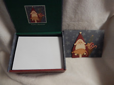 WARREN KIMBLE ''PERE NOEL'' 15 HOLIDAY NOTECARDS W/TIP-ONS -NEW-BOXED-RETIRED