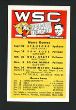 Washington State Cougars--1956 Football Pocket Schedule