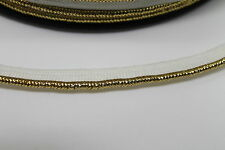 4 Mtr White Gold Bias Piping Cord Binding Covered Insertion Tape Flange Trim 7mm