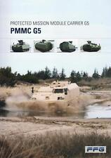 FFG PMMC G5 2015 TRACKED CARRIER G5 MILITARY BROCHURE PROSPEKT FOLDER DEPLIANT