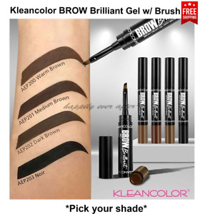 Kleancolor Brow Brilliant Cream-Gel with Brush, Brow Makeup *Pick your Colors!*