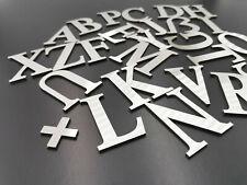 4cm  6cm BUCHSTABEN hochwertig Metall für Schilder Deko  Edelstahl DIY