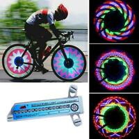 32 Pattern LED Colorful Bicycle Wheel Tire Spoke Signal Light Safety For Bi W9D2