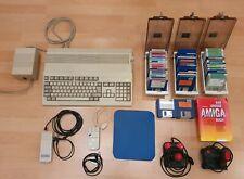 Amiga Commodore A 500 mit Zubehör, 2 Joysticks, Spiele, Netzteil, Maus