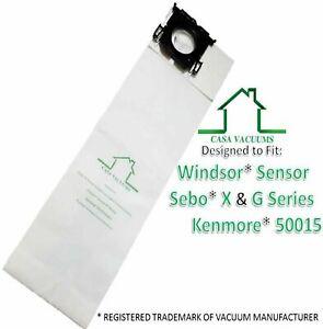 Micro Lined Windsor Sensor & Versamatic-Plus Vacuum Bags Also Sebo 10 Pack