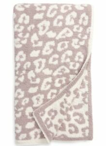 Barefoot Dreams CozyChic In The WILD Large THROW BLANKET Faded Rose / Cream NWT