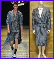 S/S 2013 look #46 NEW VERSACE Belted Wool Silk Blend Kimono Robe  50 - 40 (L)