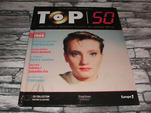 TOP 50 PATRICIA KASS JOHNNY HALLYDAY SABRINA   ETC. CD VINYL REPLICA + LIVRE