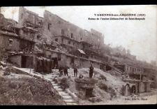VARENNES-en-ARGONNE (55) Ruines du CHATEAU-FORT de SAINT-GENGOULD animé