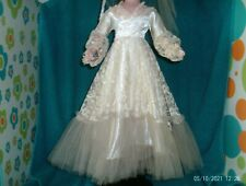 """vintage white Gown Tlc original for 21"""" American Character Sweet Sue Doll"""