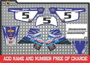pw50 decals graphics  pw 50 personal peewee laminated motocross factory blue bk