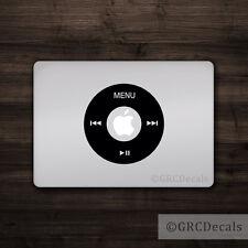 iPod Wheel - Mac Apple Logo Cover Laptop Vinyl Decal Sticker Macbook Music