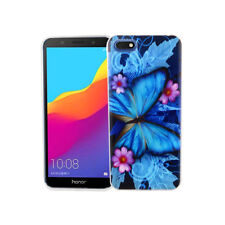 Huawei Honor 7s Handy-Hülle Schutz-Case Cover Bumper Schale Schmetterling Blau