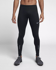Nike Power Men's Running Performance Dri-Fit Black Tights 856886-010 Size M