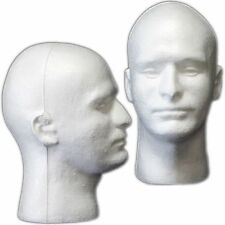 Less Than Perfect Mn-409-Ltp 2 Pcs Male Styrofoam Foam Mannequin Head