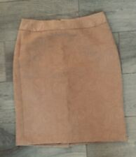 BANANA REPUBLIC Pencil Skirt~Size 4~Waistband~Back Slit & Zip~Cotton/Poly~Brown