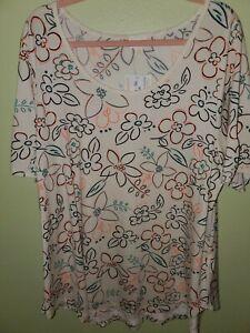 Lularoe 3XL Morgan Shirt Floral NWT