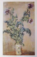 "Claude MONET ""PURPLE POPPIES"" Plate Signed Lithograph Art"