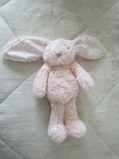 F&F Pink  Bunny Rabbit Silver Dot Ears Heart  Nose 🐰 ~ Baby Comforter Soft Toy