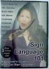 SIGN LANGUAGE 101 DVD A Beginner's Guide to American Sign Language (ASL)
