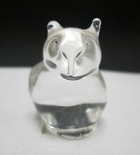 VTG MINIATURE HAND BLOWN ART GLASS OWL FIGURINE INTERESTING DESIGN CANADA