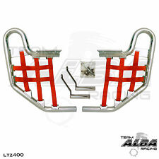 LTZ 400 LTZ400 Suzuki   Nerf Bars   Alba Racing   Silver bar Red nets  206 T1 SR
