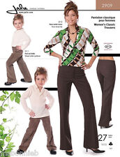 Jalie Classic Trousers / Pants Sewing Pattern 2909 in 27 Sizes Misses' & Girls'