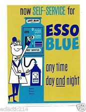 "ESSO BLUE PARAFFIN Label Can Sticker Decal 8"" X 6"" Garage Service Station Petrol"