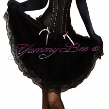 Black Skirt Plus Size 6-28 Fancy Dress Womens Burlesque Swing Long Retro Skater