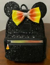 NWT Loungefly Disney Halloween Candy Corn Minnie Mouse Sequin Mini Backpack