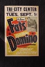 Fats Domino Poster 1959 Tri City Center Kennewick Washington